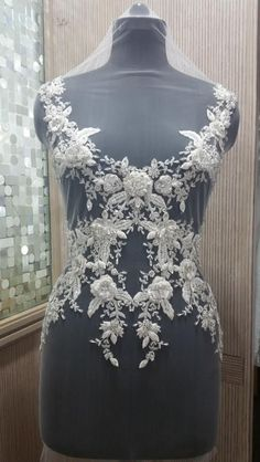 Hand Beaded and Embroidered WEDDING DRESS Bodice - ITALIA