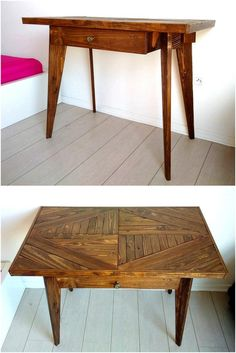 reused pallets entryway table