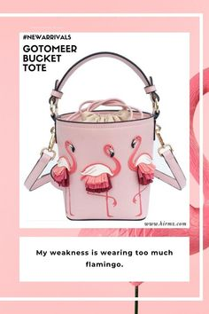 Gotomeer definitely our favorite aesthetic flamingo style crossbody purse with perfectly proportioned to carry all your essentials, this sweet and slouchy Gotomeer tote bag definitely can be your adorable fashion piece ready style that's sure to stand out from the crowd and add a charming with all the flamingos around. #pinkflamingopurse #flamingoideas #cuteflamingo #cutepurse #bucketbagstreetstyle #flamingobucketbag #flamingo Trendy Purses, Unique Purses, Cute Purses, Purses And Bags, Cute Crossbody Purses, Crossbody Clutch, Flamingo Pattern, Summer Purses, Vegan Handbags