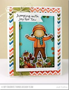 Jumping with Joy Stamp Set and Die-namics, Single Stitch Line Rectangle Frames Die-namics, Stitched Fishtail Flag STAX Die-namics, Blueprints 2 Die-namics - Jodi Collins #mftstamps