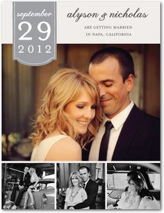 save the date idea - obviously the photos are beautiful, but it's another simple info banner I enjoy