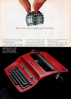 Vintage IBM electric typewriters from the including the Selectric with swappable round print heads - Click Americana Vintage Suitcases, Vintage Luggage, Vintage Typewriters, Ibm Typewriter, Good Man Quotes, Pen Brands, Ol Days, Vintage Market, Writing