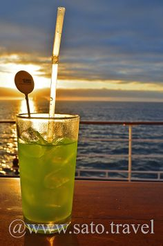 A relaxing Cocktail on board the Legend Cruise Ship at Sunset.