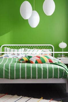 Is your home ready to celebrate St. Patrick's Day? Set the mood with the bright green IKEA TUVBRÄCKA duvet cover set!