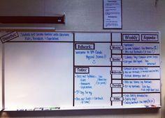 Classroom Whiteboard Organized! - TaraHorton