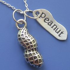 Peanut Necklace by sudlow on Etsy https://www.etsy.com/listing/79432608/peanut-necklace
