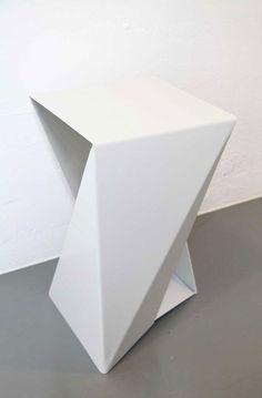 BENT aluminium ans steel stools.   www.jade-moyse.co.uk