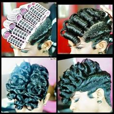 Step by step tutorial for ladies with natural / relaxed hair Love Hair, Great Hair, Gorgeous Hair, My Hairstyle, Cute Hairstyles, Black Hairstyles, Short Relaxed Hairstyles, Curly Haircuts, Hairstyles Pictures
