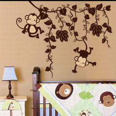 Monkey vine wall vinyl. Interesting color of vines.