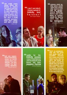 #Arrow #Olicity <3 i love the fact that the cast also love Felicity and clearly like Olicity!