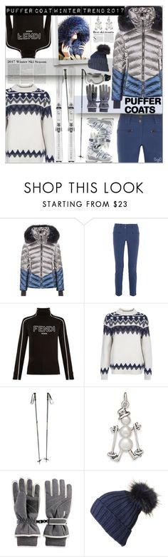 """PUFFER COAT: Winter Trend"" by polyvore-suzyq ❤ liked on Polyvore featuring Toni Sailer, Perfect Moment, Fendi, Barbour, Salomon, Chanel, BillyTheTree, Igloos, Andrea and Black"