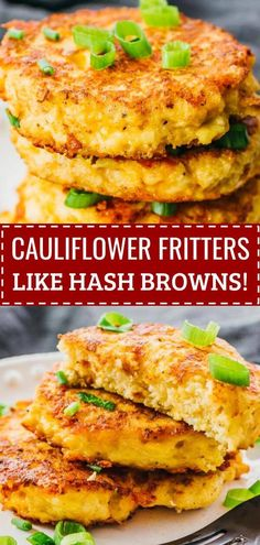 Satisfy your cravings for tater tots or hash browns! These cheesy and crispy cauilflower fritters are a delicious breakfast meal -- cheesy, easy to make, and flourless (yep, no flour needed). They're…More 6 Awesome Keto Diet Friendly Breakfast Recipes Carb Free Recipes, Healthy Diet Recipes, Keto Recipes, Easy Recipes, Carb Free Foods, Eat Clean Recipes, Carb Free Lunch, Carb Free Dinners, Carb Free Snacks