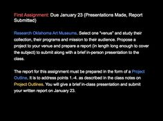 Assignment #1 Due January 23