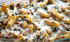 cheesy spinach and chicken bake. looks healthy and good!