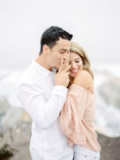 Feeling the love during this surprise cliffside proposal: Photography: Lucy Munoz - http://www.stylemepretty.com/portfolio/anna-lee Read More on SMP: http://www.stylemepretty.com/2016/12/18//