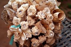 sola wood and paper bouquet. Eco Friendly