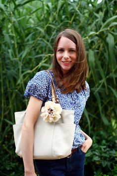 Caught On A Whim - DIY: Floral Tote Tutorial
