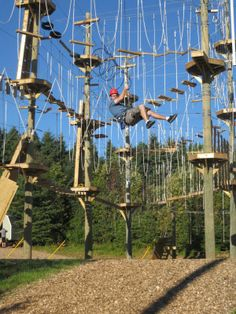 Rise and Climb Adventure Course is an aerial adventure park also known as a high ropes course. You'll have a blast experiencing the great outdoors while completing fun challenges suspended 40 feet off the ground. Cornwall
