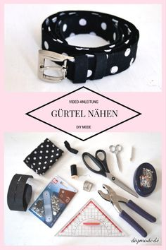 Fabric Crafts Sewing: make belt yourself / DIY MODE video tutorial Sewing Patterns Free, Free Sewing, Free Pattern, Sewing Diy, Sewing Ideas, Clothes Crafts, Sewing Clothes, Trombone, Diy Belts