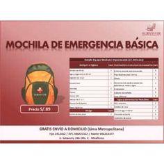 Mochila De Emergencia (Básica)
