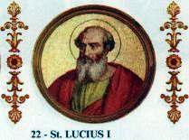 5 marzo Lucius I PP.