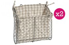 {Get Organized} Large Wire Mesh Wall-Mount Baskets With Liner - Decor Steals (one deal a day)~Enjoy Today's Steal from DECOR STEALS