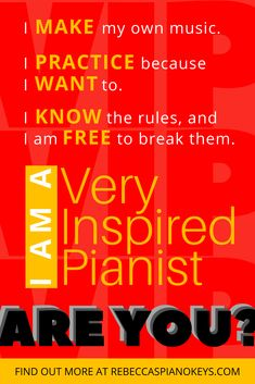 How to Learn Piano - Join the VIP club and become a Very Inspired Pianist - Learn how to create your own music! Fall in love with piano! Piano Keys, Piano Music, The Way You Are, How Are You Feeling, After High School, Online Tutorials, Take The First Step, Piano Lessons, Jealousy