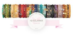 Supporting worthwhile charities ... That's Chavez for Charity bracelets.