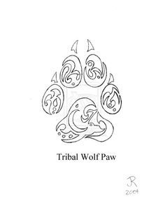 Tribal wolf paw More