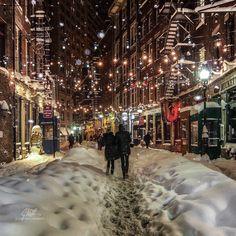 New York City Feelings - New York City's Stone Street during #blizzard2016...
