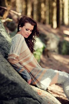 mohair sweater, oversized, design, fashion , forest photo: haakon nordvik