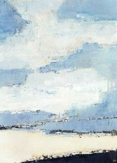 Nicolas de Stael (Russian-French, - Sea and Clouds Abstract Landscape Painting, Landscape Art, Landscape Paintings, Abstract Art, Action Painting, Painting & Drawing, Modern Art, Contemporary Art, Art En Ligne