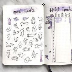 Bullet Journal crystal mood tracker