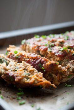 Ground turkey recipes, healthy turkey meatloaf, meatloaf recipes, meals w. Meatloaf Recipes, Meat Recipes, Dinner Recipes, Cooking Recipes, Dinner Ideas, Chicken Recipes, Oven Recipes, What's Cooking, Meal Ideas