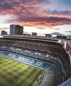 Santiago Bernabeu stadium-sunset