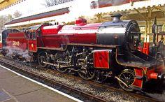 Steam Loco #13065 - LMS Hughes Crab at Bolton Street. | Flickr Heritage Railway, Old Steam Train, Steam Railway, British Rail, Old Trains, Train Pictures, Train Engines, Steam Engine, Steam Locomotive