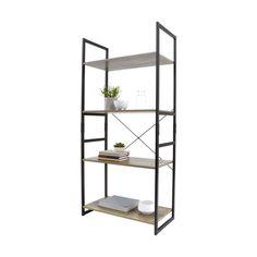 Industrial 4 Tier Bookshelf