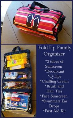 Fold up family organizer is the perfect first aid kit. Find it now on sale during the outlet sale on Thirty-One. Beach Camping, Camping Life, Beach Fun, Beach Trip, Vacation Trips, Beach Ideas, Vacation Ideas, 31 Gifts, Thirty One Gifts