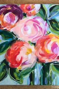 Acrylic Painting Flowers, Acrylic Painting For Beginners, Acrylic Painting Techniques, Beginner Painting, Abstract Flowers, Paint Flowers, Drawing Flowers, Abstract Art, Abstract Portrait