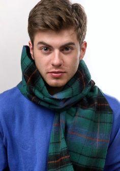 Scottish 100 % Wool Tartan Clan Scarf Davidson Ancient i