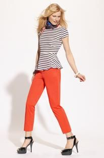 love stripes and colors, try CAbi's playtime t and limon bree jeans