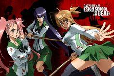Anime: Highschool of the Dead_Personajes: Saya Takagi, Saeko Busujima y Rei Miyamoto Otaku Anime, Anime Art, Female Characters, Anime Characters, High Shool, School Of The Dead, Adult Cartoons, Yandere, Fantasy Art
