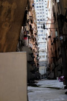 One of the little alleys of Hong Kong