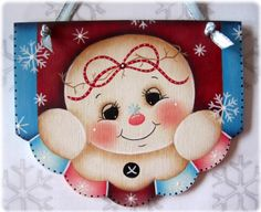 Miss Snowflake Snowman Painting E-Pattern por GingerbreadCuties