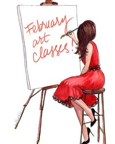 A few spots still left for my February fashion illustration classes! Visit www.inslee.net for details!
