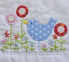 french knots - lazy daisies - blanket stitch - back stitch - running stitch