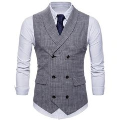 Quality Riinr 2019 Brand Suit Vest Men Jacket Sleeveless Beige Gray Brown Vintage Tweed Vest Fashion Spring Autumn Plus Size Waistcoat with free worldwide shipping on AliExpress Mobile Tweed Vest, Plaid Vest, Mens Suit Vest, Mens Suits, Chaleco Casual, Style Anglais, Herren Outfit, Style Casual, Style Men
