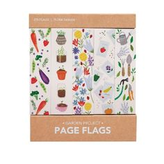 Nothing says Spring like a garden project, and if you don't have a green thumb, these page flags are the next best thing. 375 adhesive page flags 5 styles of 75 each Each page flag measures approximately Package: Approximately 3.5 inches x 3 inches Like the Garden Project Page Flags?  We have more pretty paper products Linen Shop, Desk Set, Important Dates, Egg Decorating, Milk Paint, Bookbinding, Garden Projects, Flags, Garden Design