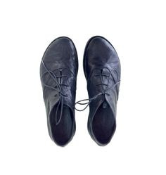 NEW FALL COLLECTION Black oxford shoes flat by WalkByAnatDahari