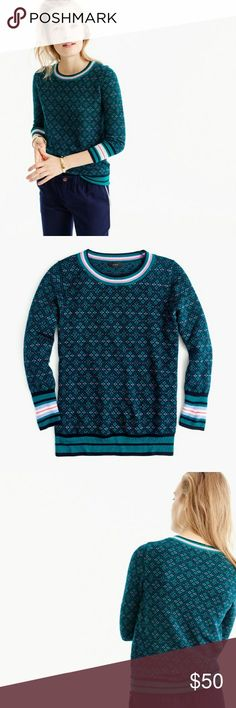 Jcrew Fair Isle Sweater | Fair isles, Scoop neck and Conditioning